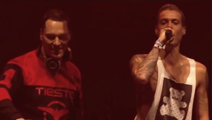 Dj Tony Junior (rechts), samen met dj Tiësto.