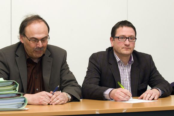 Meester Dirk De Maeseneer en Patrick Vanoppen. (archief)