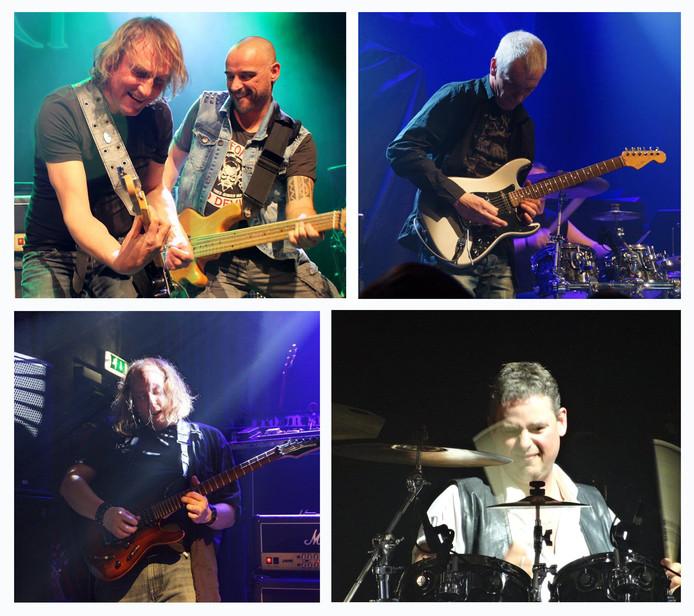 Mamilla, met (vanaf linksboven met de klok mee) Ruud Aerssens, Bas Mathijsse, Rick de Visser, Paul Goedegebuure en Dennis van de Bor.