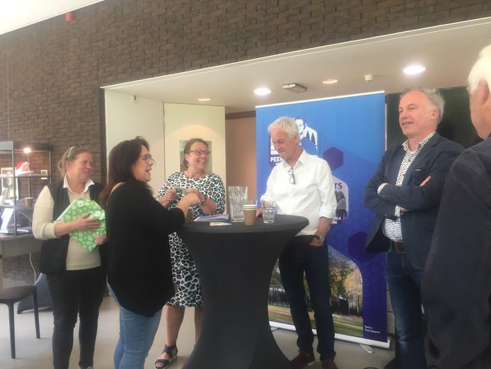 Bijeenkomst foto met o.a. Ingrid Boef en Ralf Embrechts