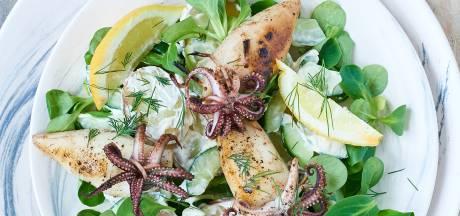 Wat Eten We Vandaag: Zomerse aardappelsalade met gevulde inktvis