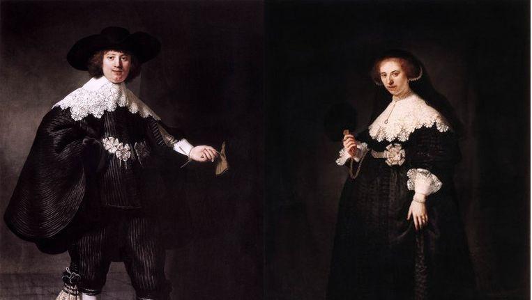 De twee portretten van Rembrandt. Beeld