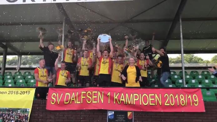Dalfsen werd dit weekend voor de derde keer op rij kampioen.