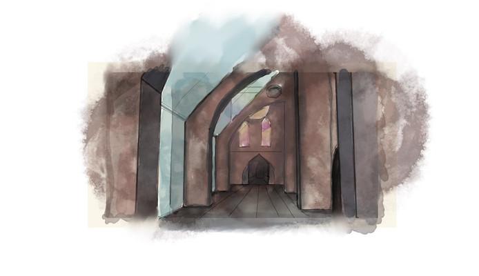 De rondgangen van de kerk bovenin moeten beter toegankelijk worden (team 5).