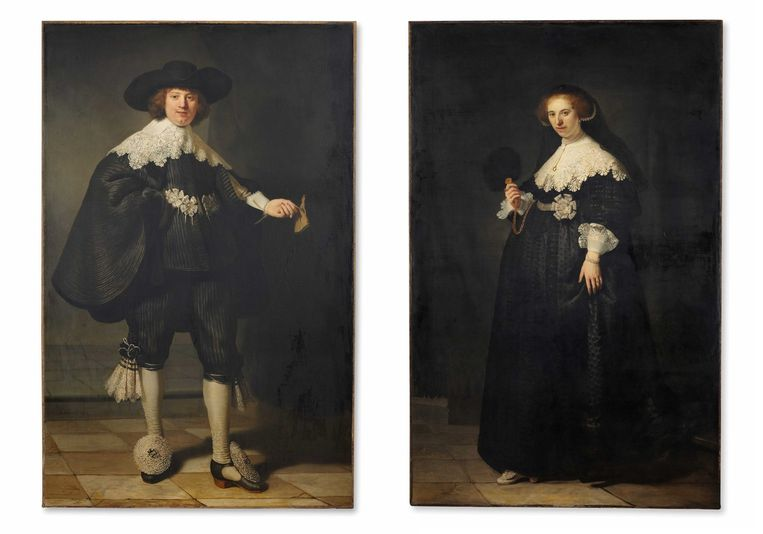 De twee Rembrandt-portretten. Beeld anp
