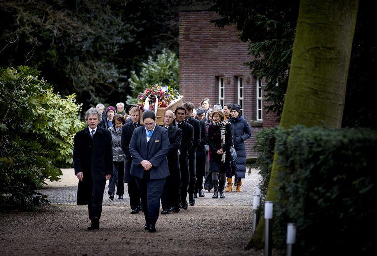 De begrafenis van dirigent en componist Reinbert de Leeuw op Zorgvlied in februari dit jaar. Beeld ANP