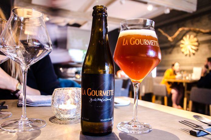La Gourmette est une bière brassée spécialement pour le restaurant courcellois.