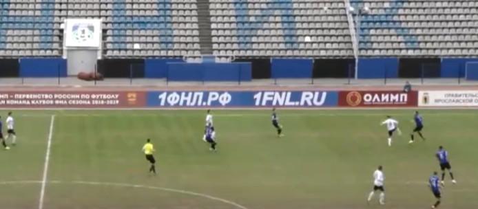 Een 'Eddy Treijtel-momentje' in de Russische competitie.