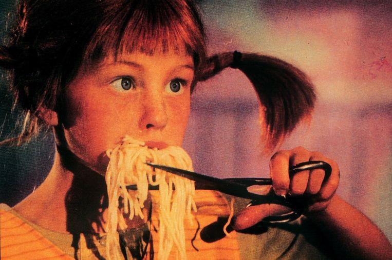 De Zweedse actrice Inger Nilsson als Pippi Beeld anp