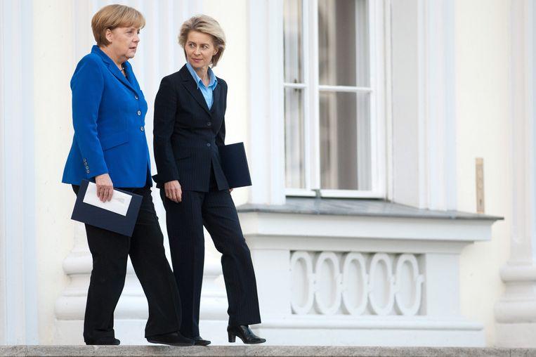 Angela Merkel en Ursula von der Leyen in Berlijn, archiefbeeld.