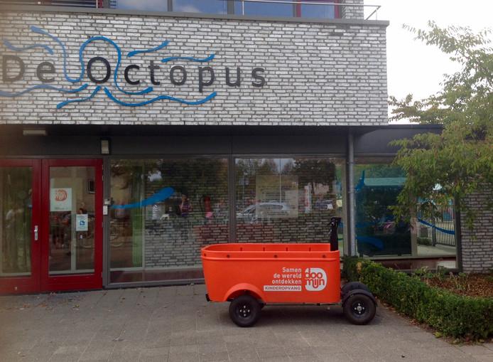 Een elektrische bakfiets van Doomijn in Zwolle.