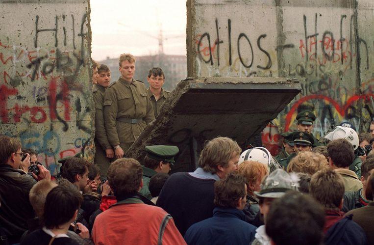 De val van de Berlijnse Muur, 1989. Beeld null