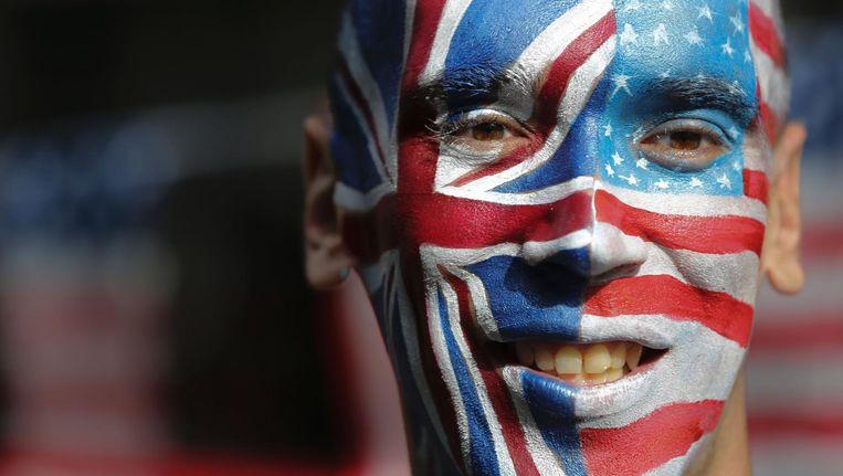 Met de uitverkiezing van Donald Trump lijken de Britse media nog verder verdeeld te zijn. Beeld afp