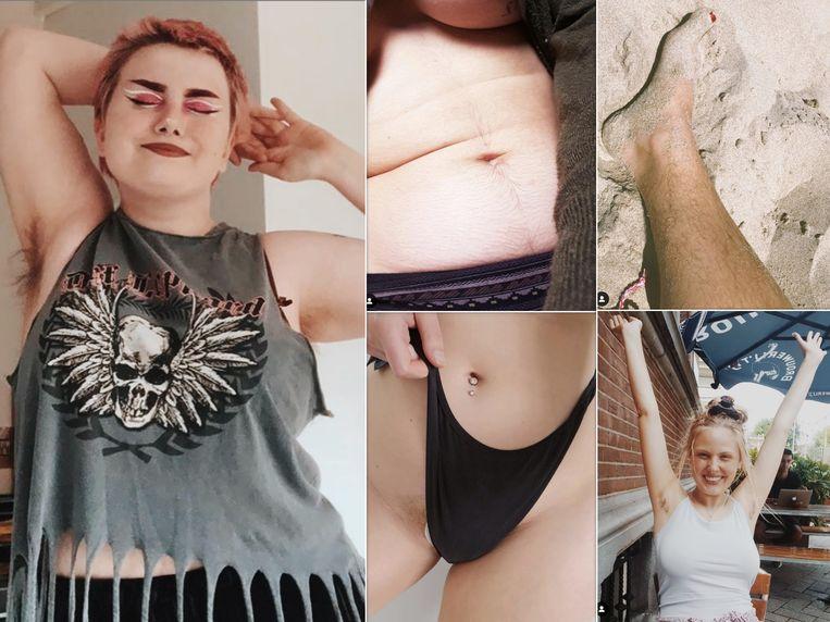 De Instagramaccount @CuteHairyBitches viert behaarde vrouwen in alle verschijningen.