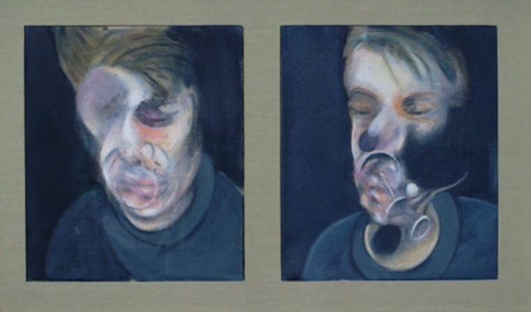 'Two Studies for Self-Portrait' (1977) van Francis Bacon