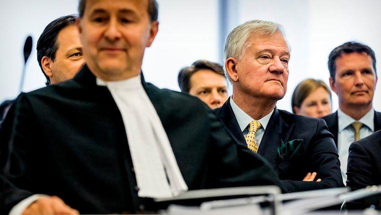 Antony Burgmans, voorzitter van de Raad van Commissarissen van AkzoNobel bij vorige week bij de zaak Elliott Advisors Beeld anp