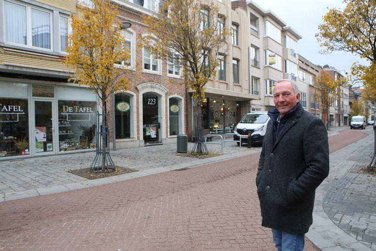 Eddy Poffé in de Leuvensestraat.