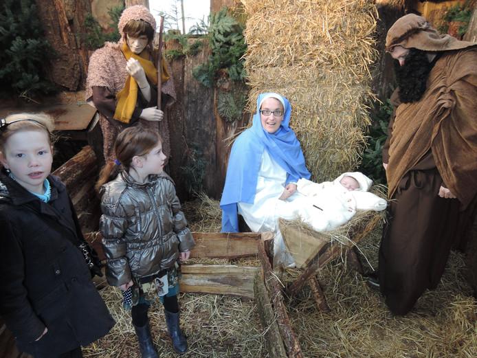 De kerststal bij de Kinderboerderij in Uden