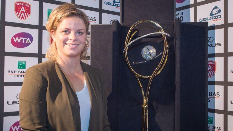 Kim Clijsters staat voor haar grote vuurdoop als toernooidirectrice van de Diamond Games in Antwerpen.