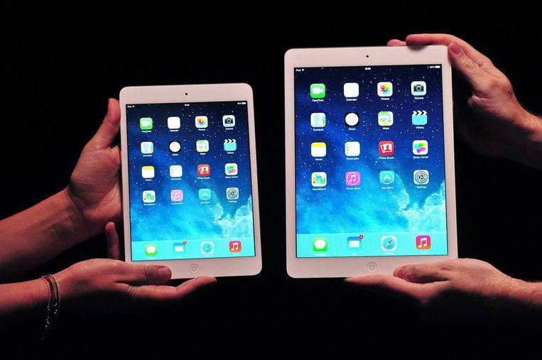 De iPad Mini 2 en de iPad Air Beeld afp