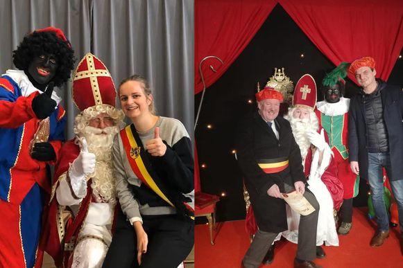 Zowel in Sint-Gilllis-Waas als Beveren mocht de burgemeester op de schoot plaatsnemen van Sinterklaas.