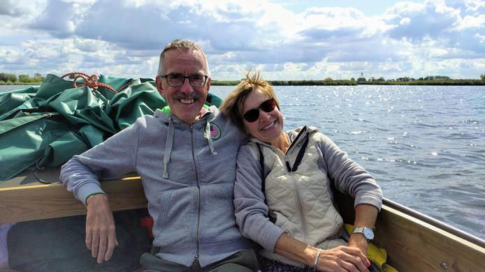 Joop en Tonny Temmink op de IJsseldelta bij Kampen.