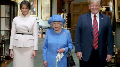 Wie was er nu te laat? Trump of de Queen?