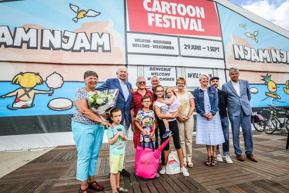 Knokke 100 000 ste bezoeker cartoonfestival