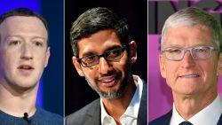 Topmannen Apple, Amazon, Facebook en Google op de rooster gelegd in Amerikaans Congres