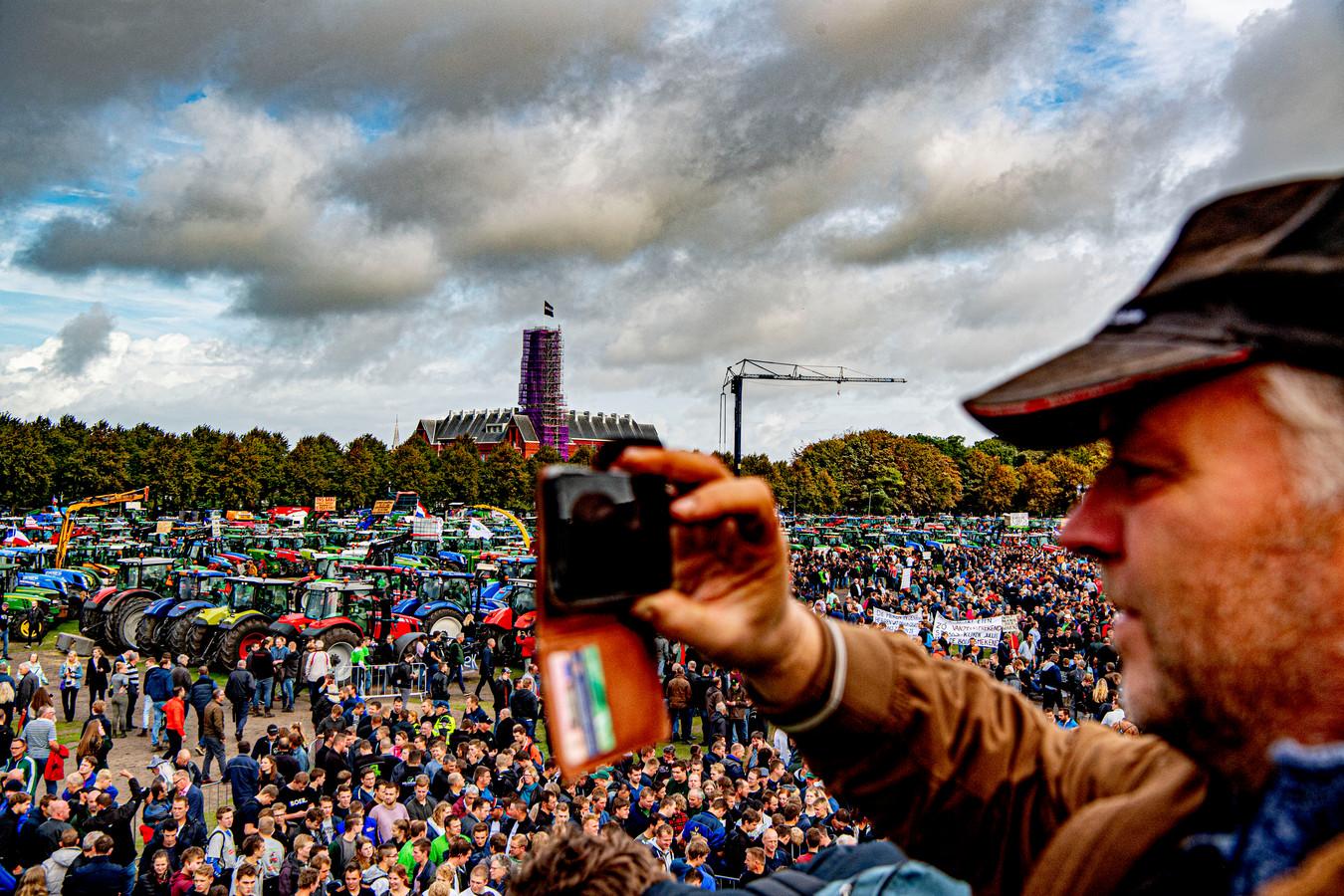 Boeren protesteren op het Malieveld in Den Haag, foto ter illustratie.