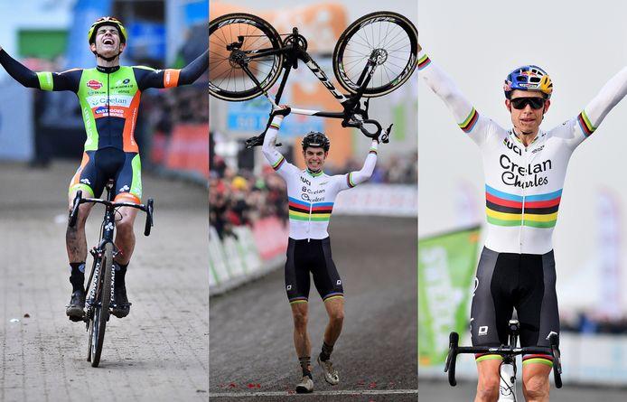 De drie Belgische titels van Wout van Aert.