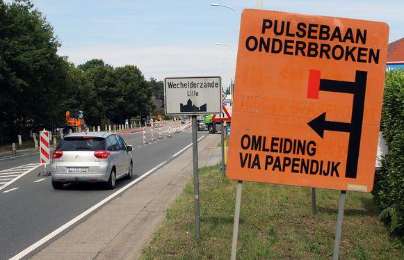 Het kruispunt van de Gebroeders de Winterstraat en Moereind in Wechelderzande