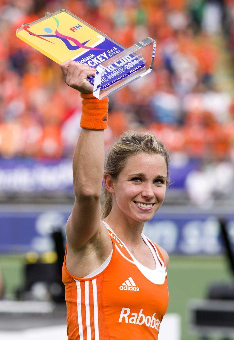 Ellen Hoog, genomineerd voor Sportvrouw van 2014. Beeld epa