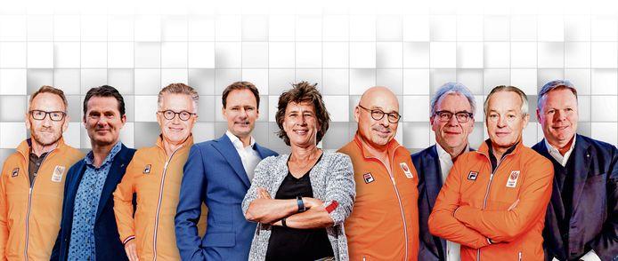 Een greep uit de beeldbepalende bestuurders en trainers in de Nederlandse sportwereld.