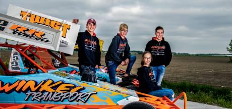 Elfjarige Estelle debuteert tijdens autocross samen met haar broer en neefjes