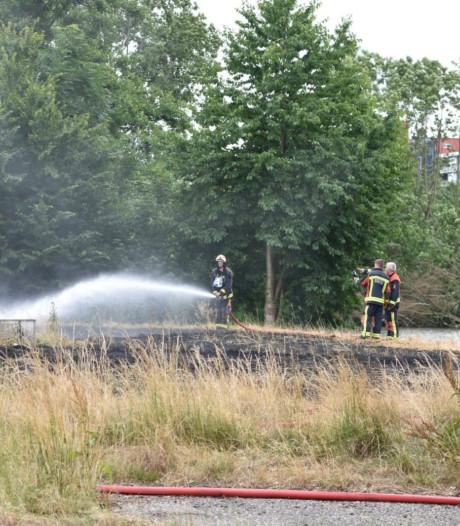 Brandstichting op stuk land in Waddinxveen