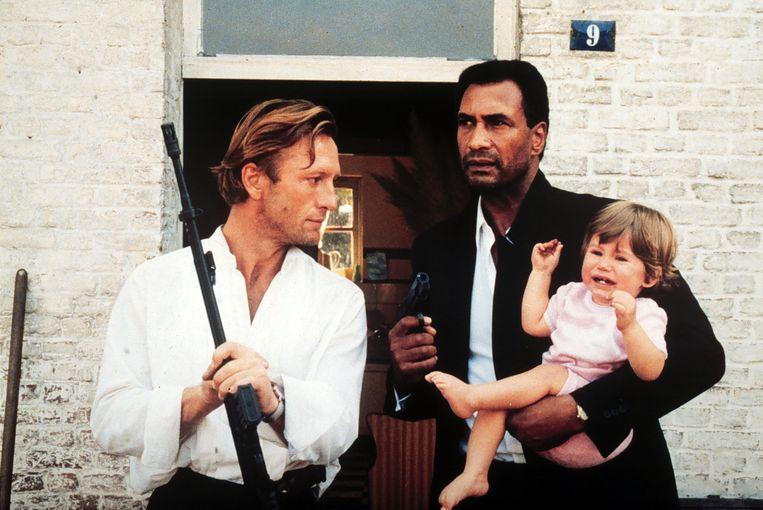 Hidde Maas (links) en Jack Monkau  in Wildschut, 1985.  Beeld ANP