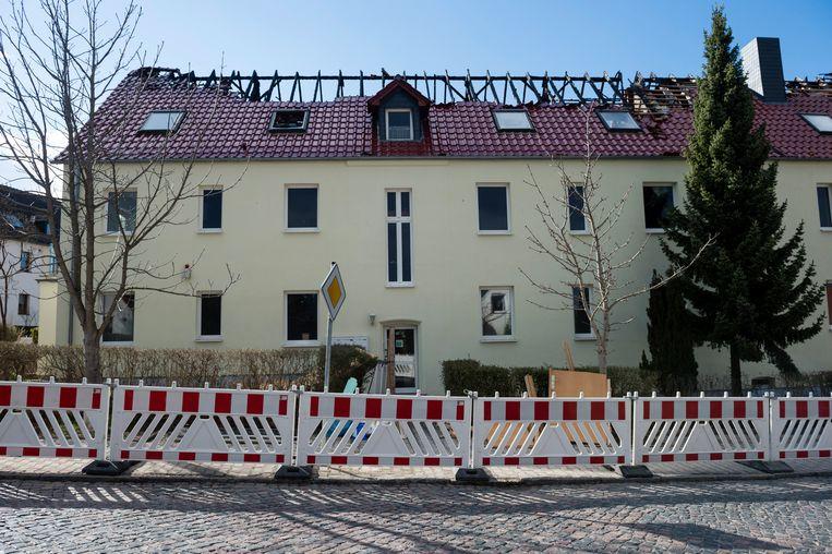 Het gebouw na de brand. Beeld Getty Images