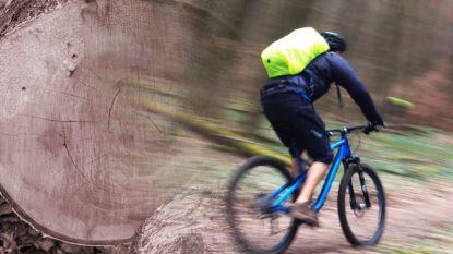 Dief steelt dure mountainbike door boom om te zagen