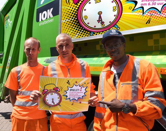 De ploegen van IOK Afvalbeheer gaan in juli en augustus over op zomerregime.