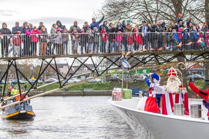 Intocht Sinterklaas in Zwolle.