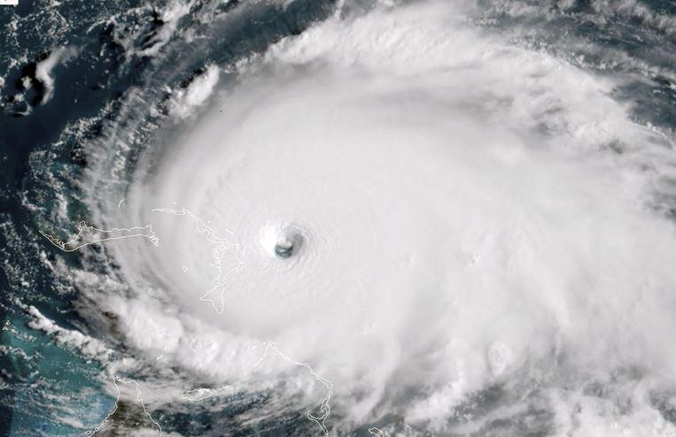 Tropische storm Dorian in de buurt van de Bahama's.  Beeld AFP