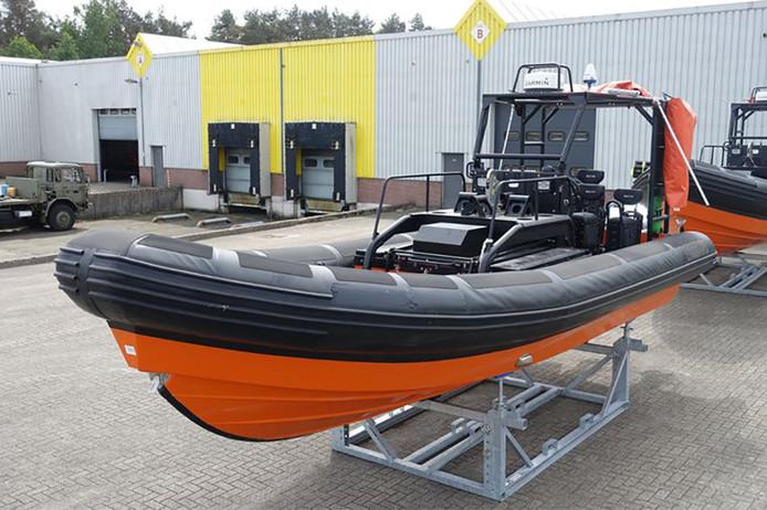 Eén van de boten van Rijkswaterstaat.