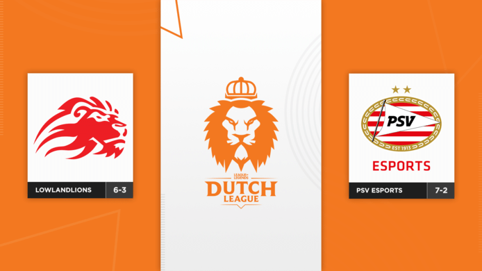 In de laatste speelweek van de groepsfase van de Dutch League spelen LowLandLions en PSV Esports tegen elkaar.