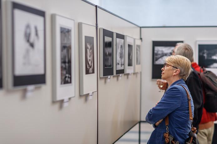Internationale foto-expositie en prijsuitreiking Benevisie. Na de bekendmaking van de winnaars kon men de winnende foto's aanschouwen.