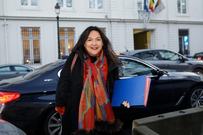 Marie-Christine Marghem, ministre fédérale de l'Énergie (MR), à son arrivée au Comité de concertation ce mercredi.
