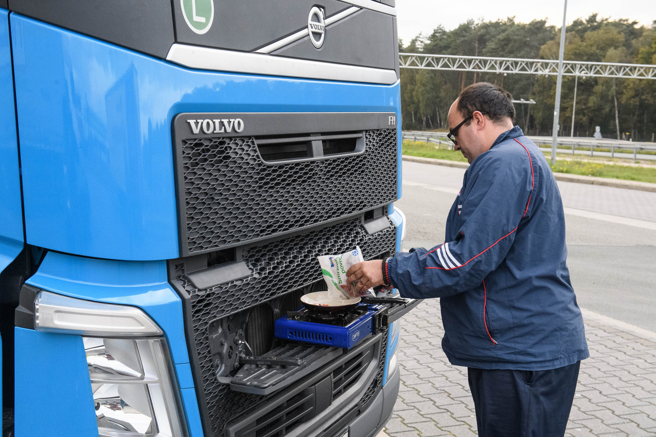 Koken is voor trucker Streginja Radovanovic uit Servië een hobby geworden.