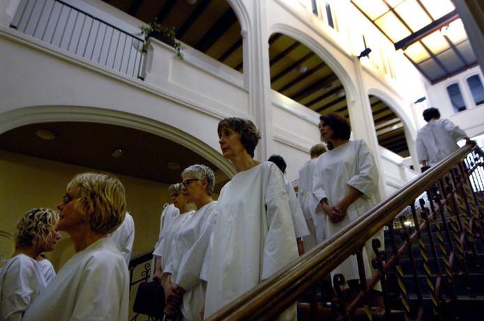 Voorstelling Westwaarts in Kapel St. Elisabeths Gasthuis in Arnhem. Foto: Hans Broekhuizen/DG