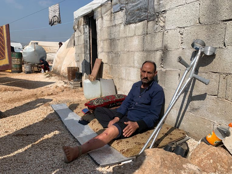 Het vluchtelingenkamp bij Sarmada. Beeld Melvyn Ingleby