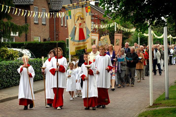 De processie in Tilligte een paar jaar geleden, beeld ter illustratie